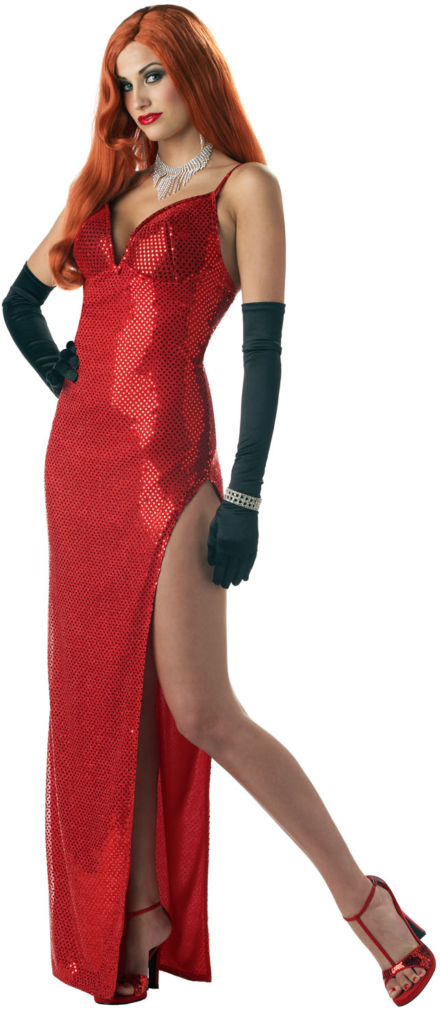Womens-HOT-Jessica-Rabbit-Long-SEXY-MOVIE-STAR-Starlet-Costume-RED-DRESS-S-M-L