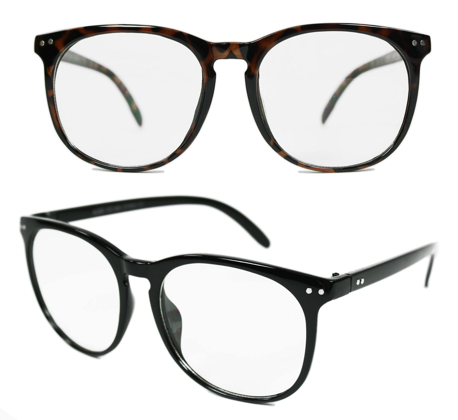 Clark Kent Disguise Superman Nerd Geek Emo Clear Lenses