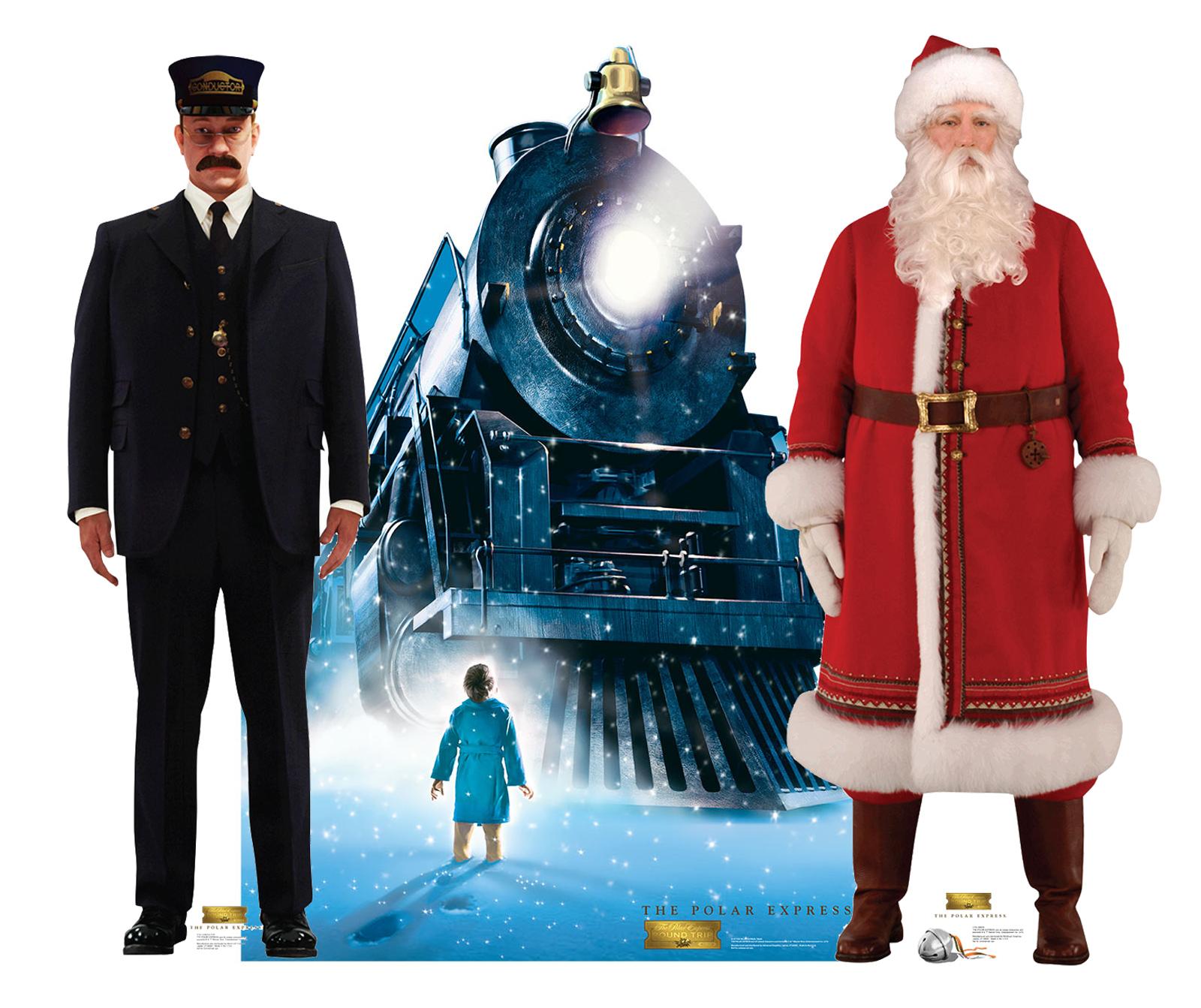 Christmas Decorations Santa Clarita Ca: SET The Polar Express Train Conductor Santa Lifesize
