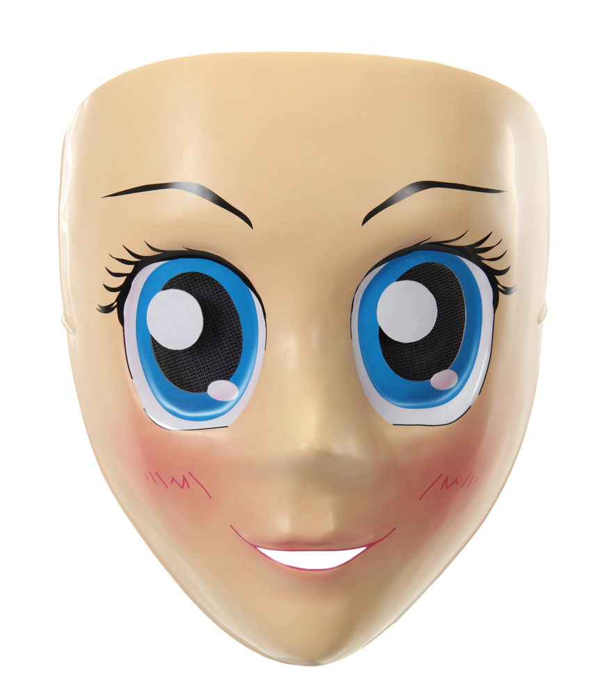 Kawaii Cute Anime Girl Blue Eyed Mask Japanimation Harajuku ...