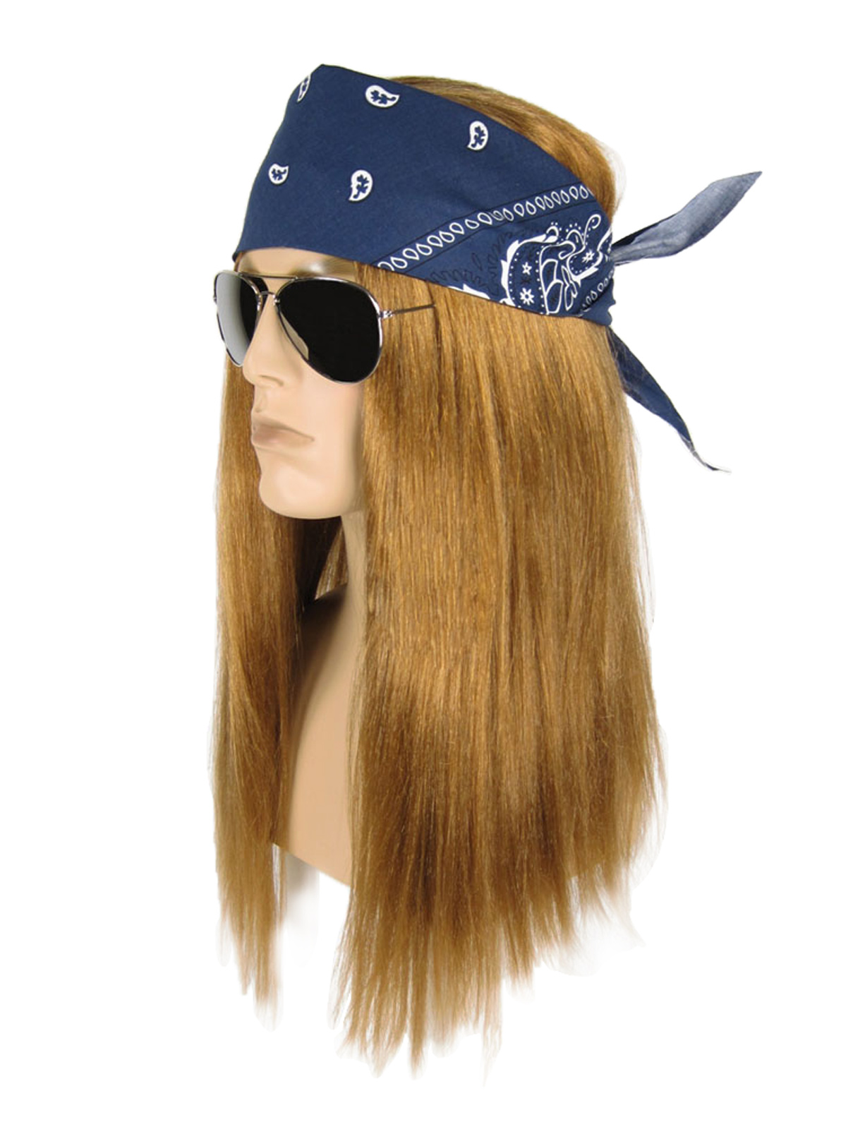 Deluxe Heavy Metal Rocker Axl Rose Guns N Roses Wig Pants