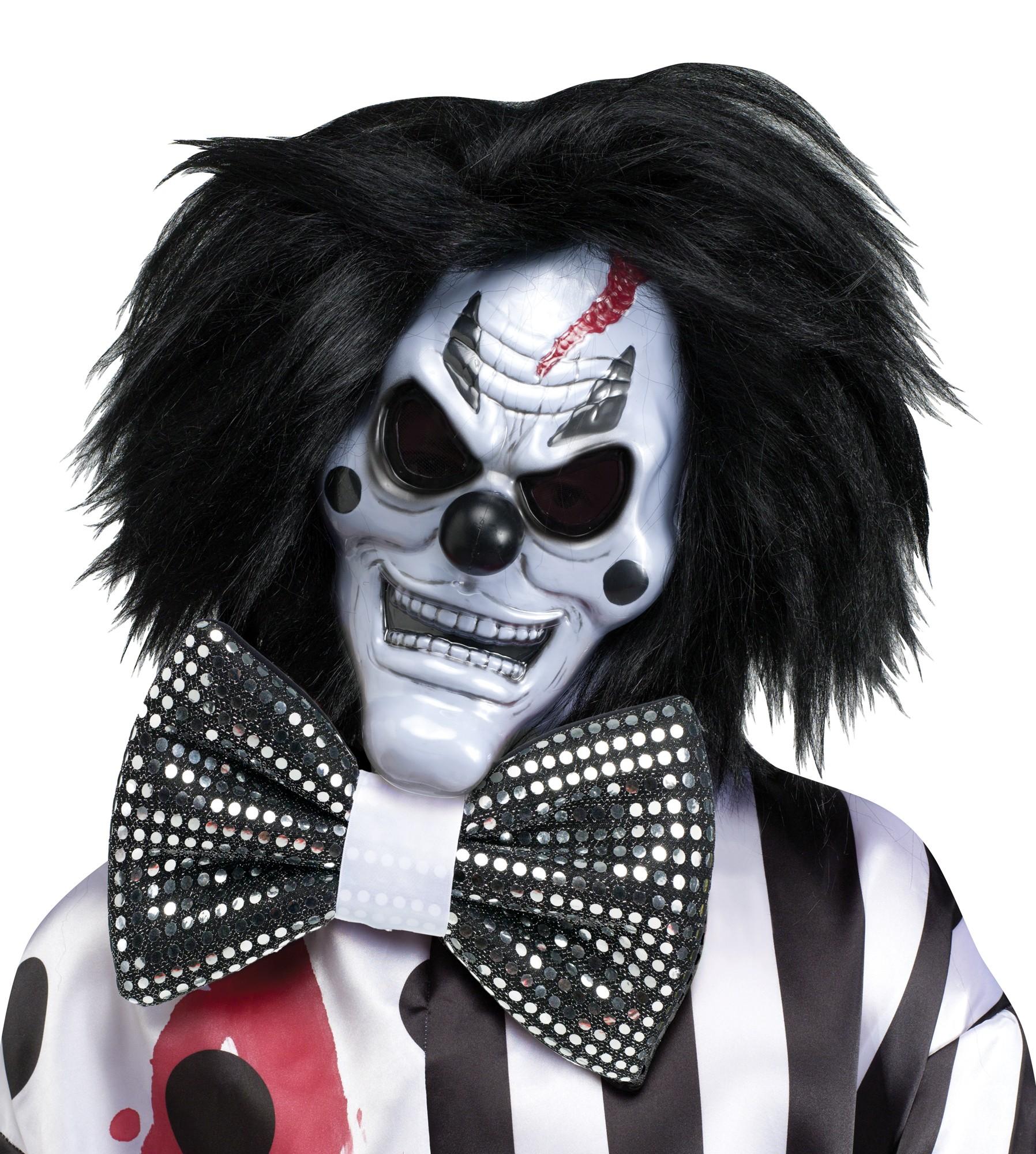 Scary Insane Killer Bleeding Bloody Clown Bow Tie Adult Costume ...