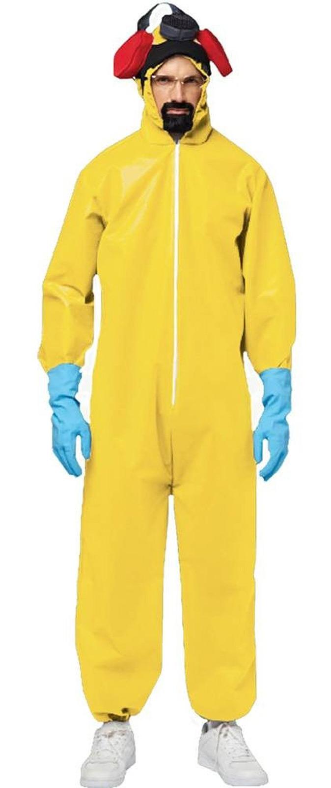 Breaking Bad Walter White Hazmat TOXIC Suit Mask Gloves ...