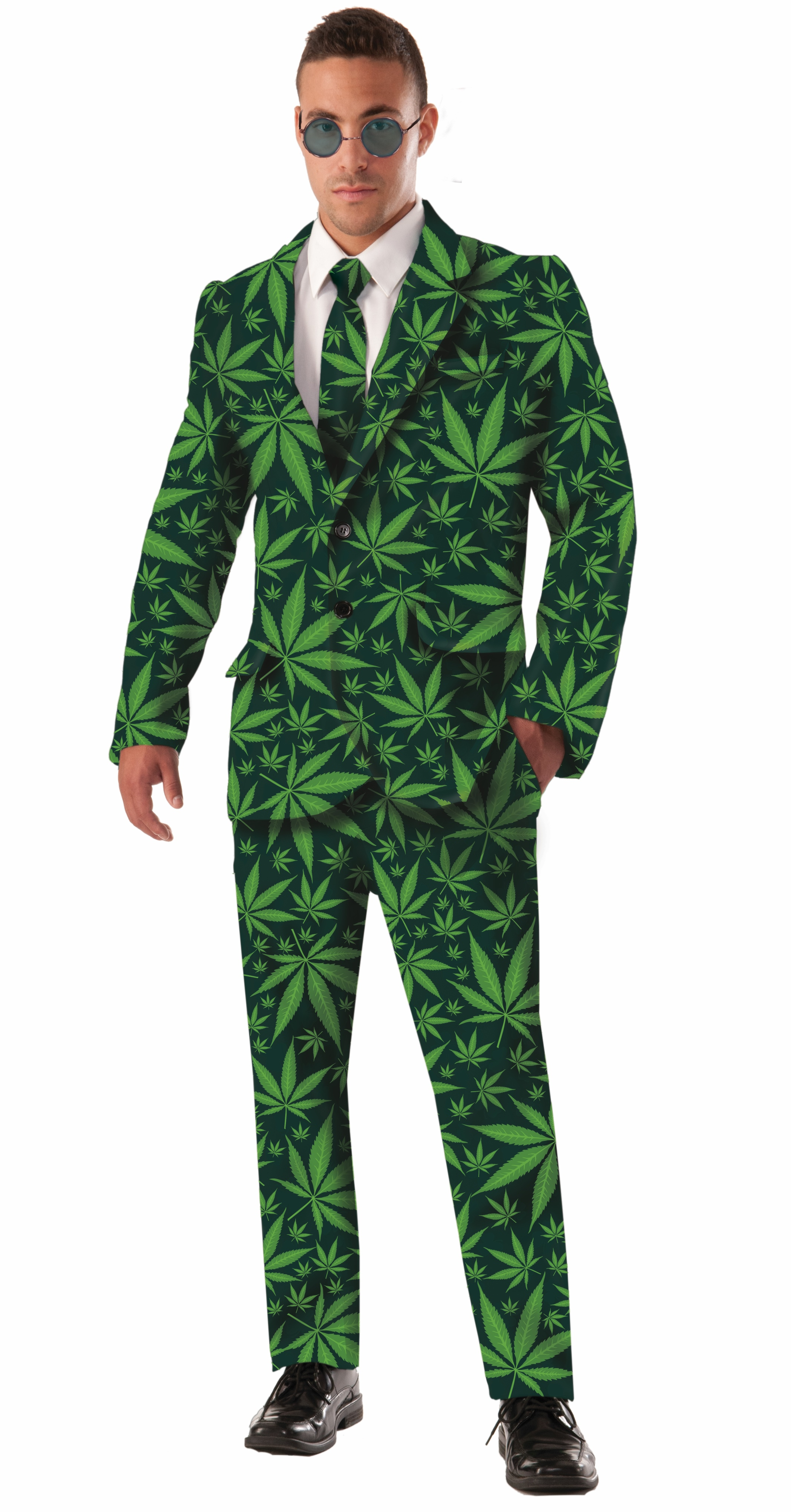 Joint Venture Cannabis Marijuana Weed Pot Leaf Pants Jacket Tie ...