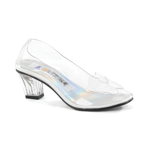 CINDERELLA-glass-SLIPPER-Fairy-Tale-PRINCESS-Womens-Shoes-Clear-Sz-6-7-8-9-10