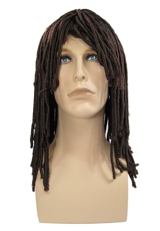 Caveman With Dreads : Dreadlock dreads surfer dude rasta caveman wig brown
