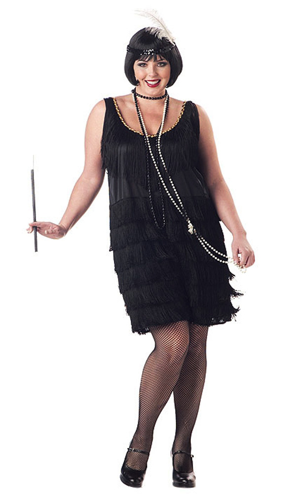 1920-039-s-Jazz-Time-Flapper-Women-039-s-Costume-Dress-Black-Plus-Size ...