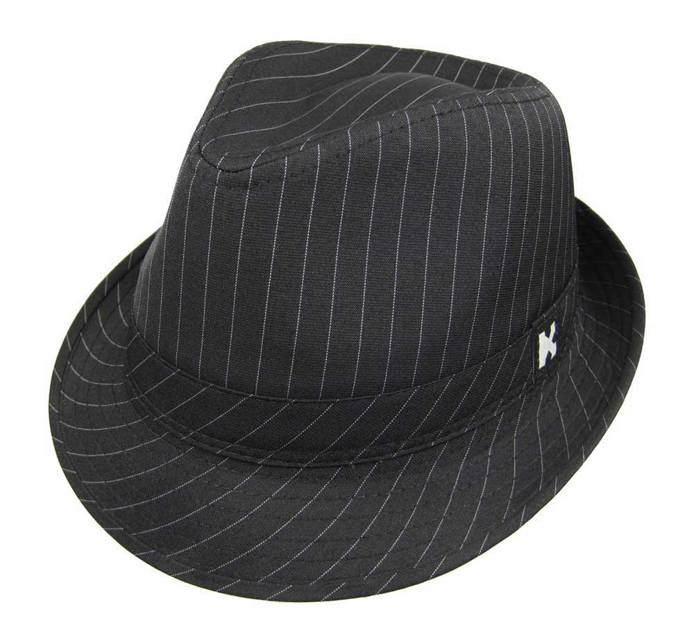 bd029486dab Swanky Pinstripe Fedora Texedo Low Rider Hat Black on PopScreen
