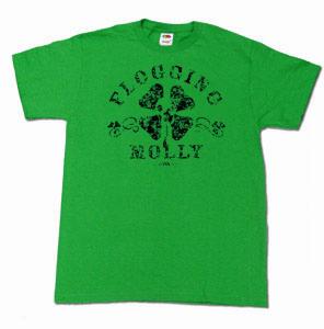 Flogging Molly Shamrock Irish Punk T-Shirt GREEN | eBay