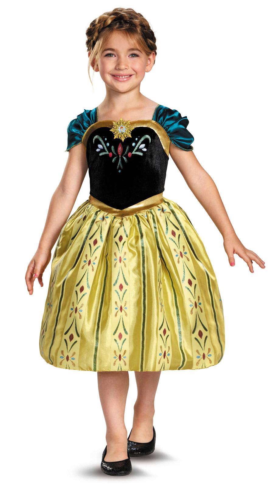 DISNEY Frozen Princess ANNA Classic CORONATION Dress Gown Costume ...