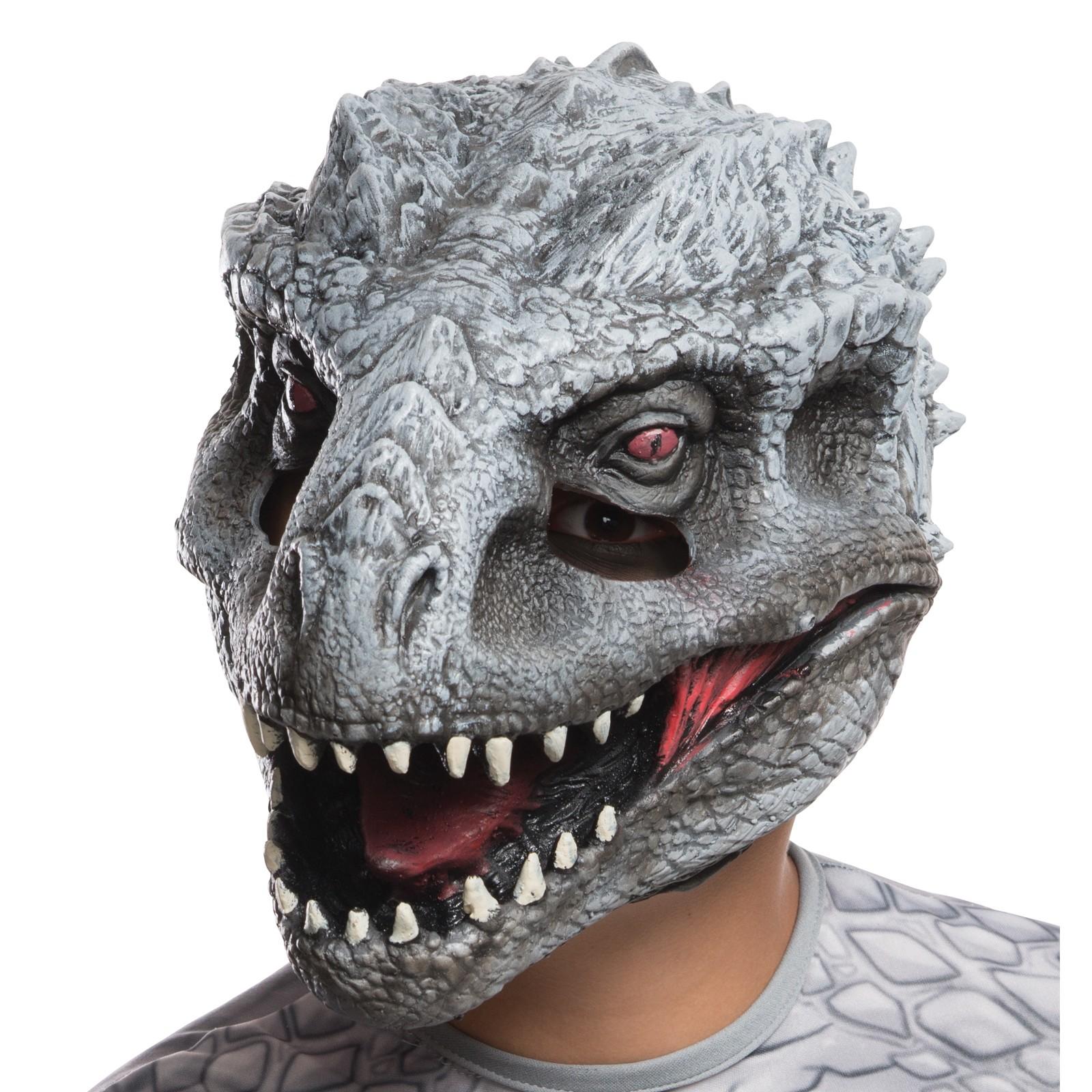 Jurassic World Dinosaur Park Indominus Rex 3/4 Mask Latex Rubber ...