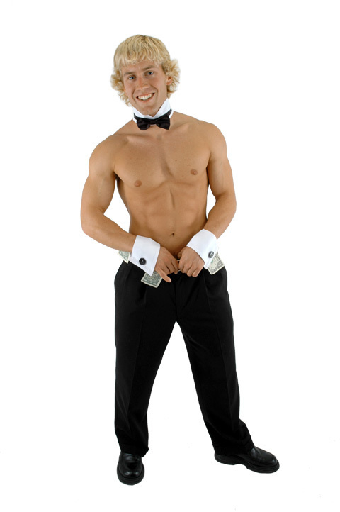 Male DANCER Stripper chip n dales COLLAR and Cuffs Costume Kit | eBay