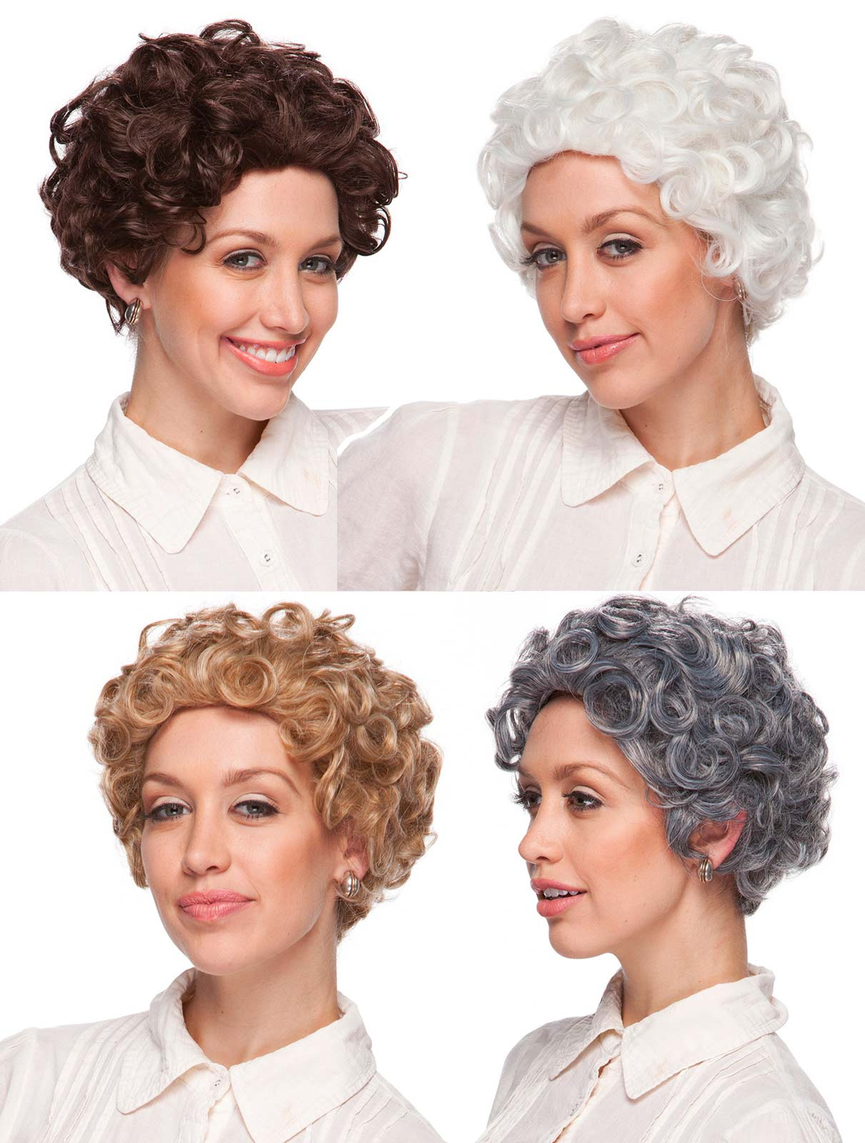 White Old Lady Wigs 49