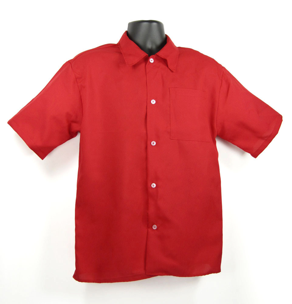 Port Authority Shirts: Men's Red S608 RED Easy Care Woven Shirt