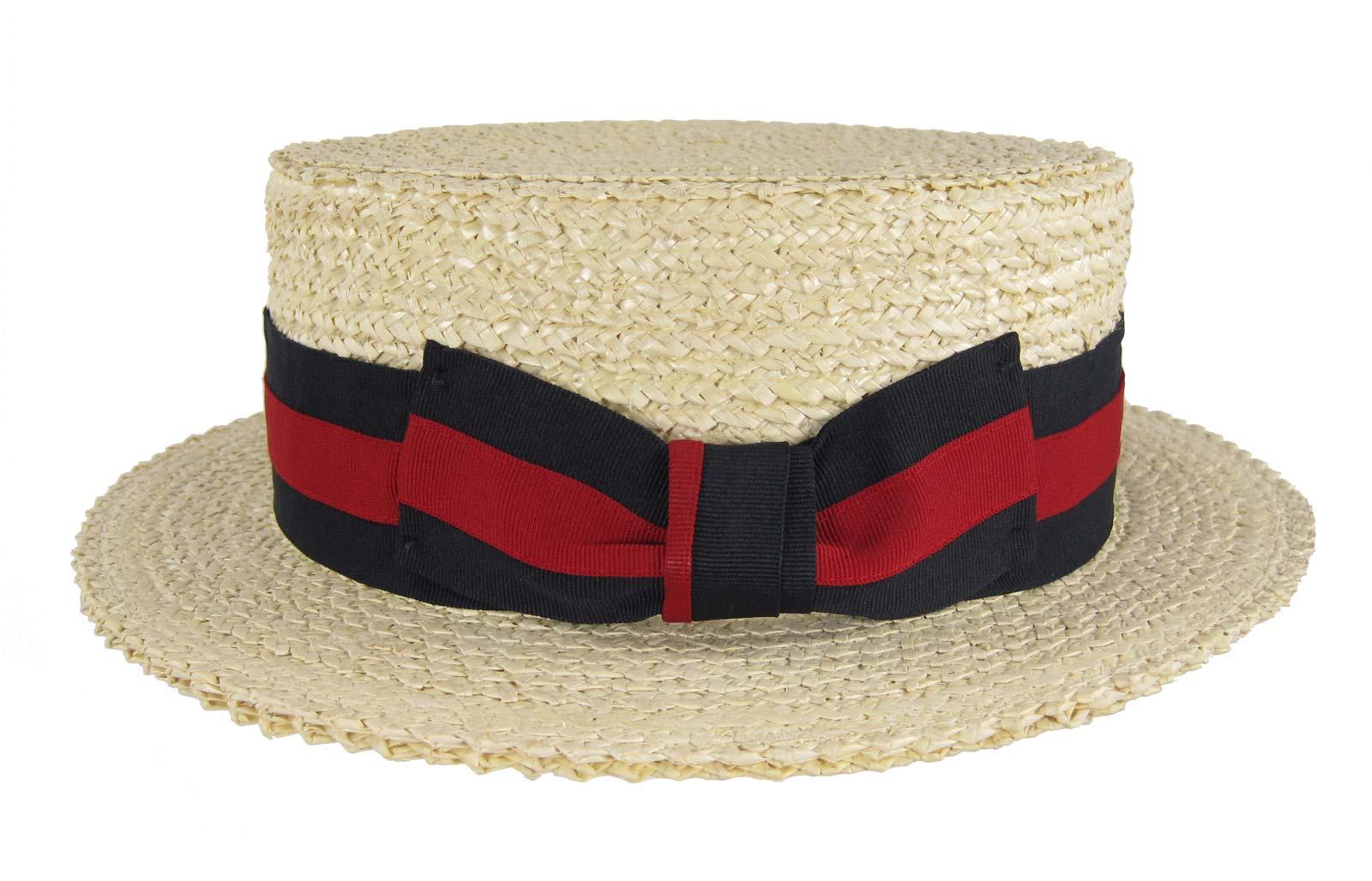 Straw Boater Skimmer Hat Campaign Boardwalk Barbershop Quartet Italian ...