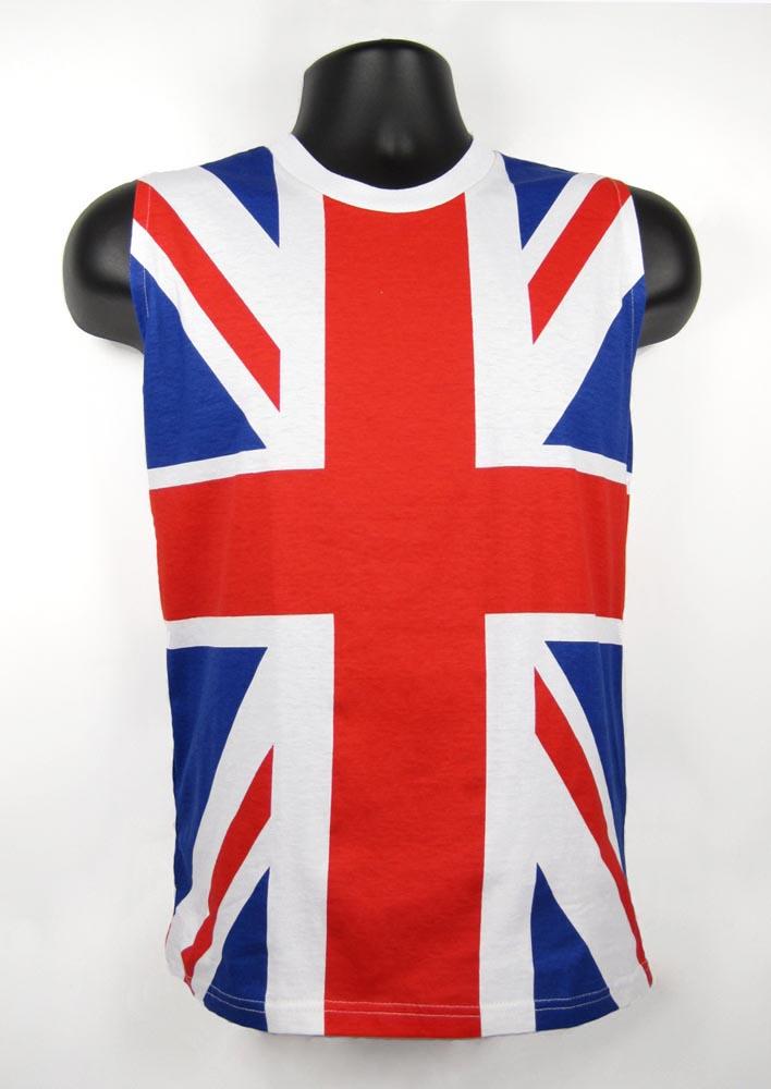 12fbfce2 80's Union Jack DEF LEPPARD UK Flag Sleeveless Shirt Tank Top | eBay