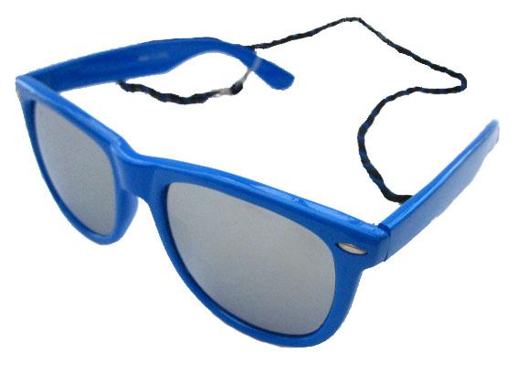 dbb7776083db 80  39 s NU WAVE Valley Girl Wayfarer NEON BLUE Sunglasses