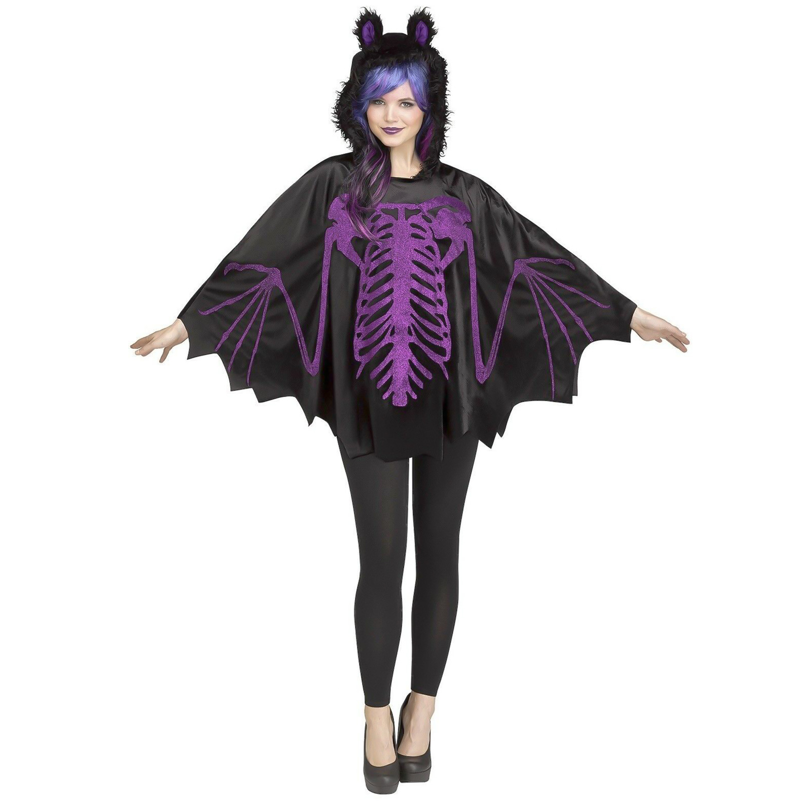 Mavis Halloween Costume Toddler.Details About Adult Women S Vampire Bat Skeleton Hooded Cape Halloween Costume Poncho Mavis