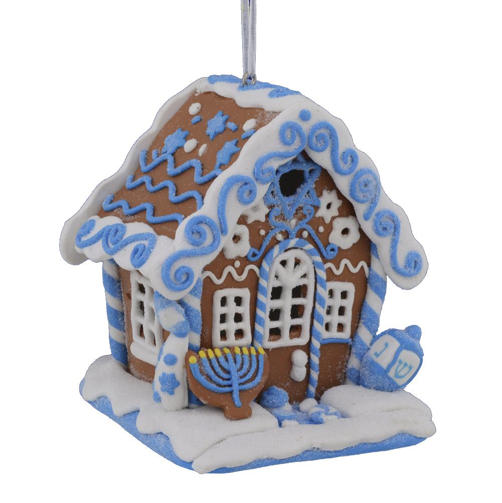 Christmas Decorations Santa Clarita Ca: Kurt Adler Hanukkah Gingerbread House Ornament Jewish