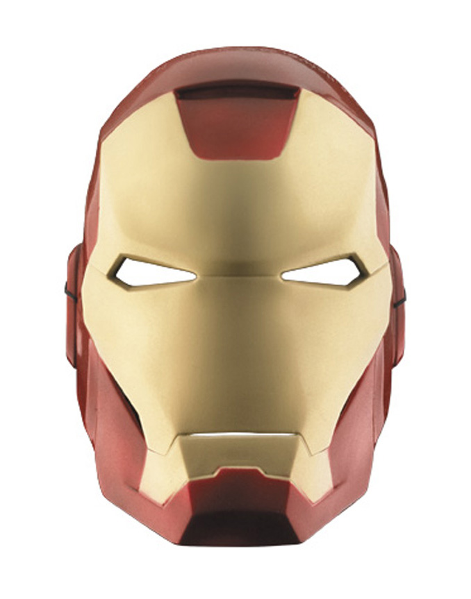 Iron Man Tony Stark Plastic Half Costume Mask
