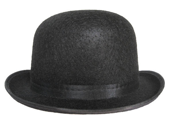 CLOCKWORK ORANGE English Droog Bowler Derby Hat White Suspenders ... 30362dfcb58