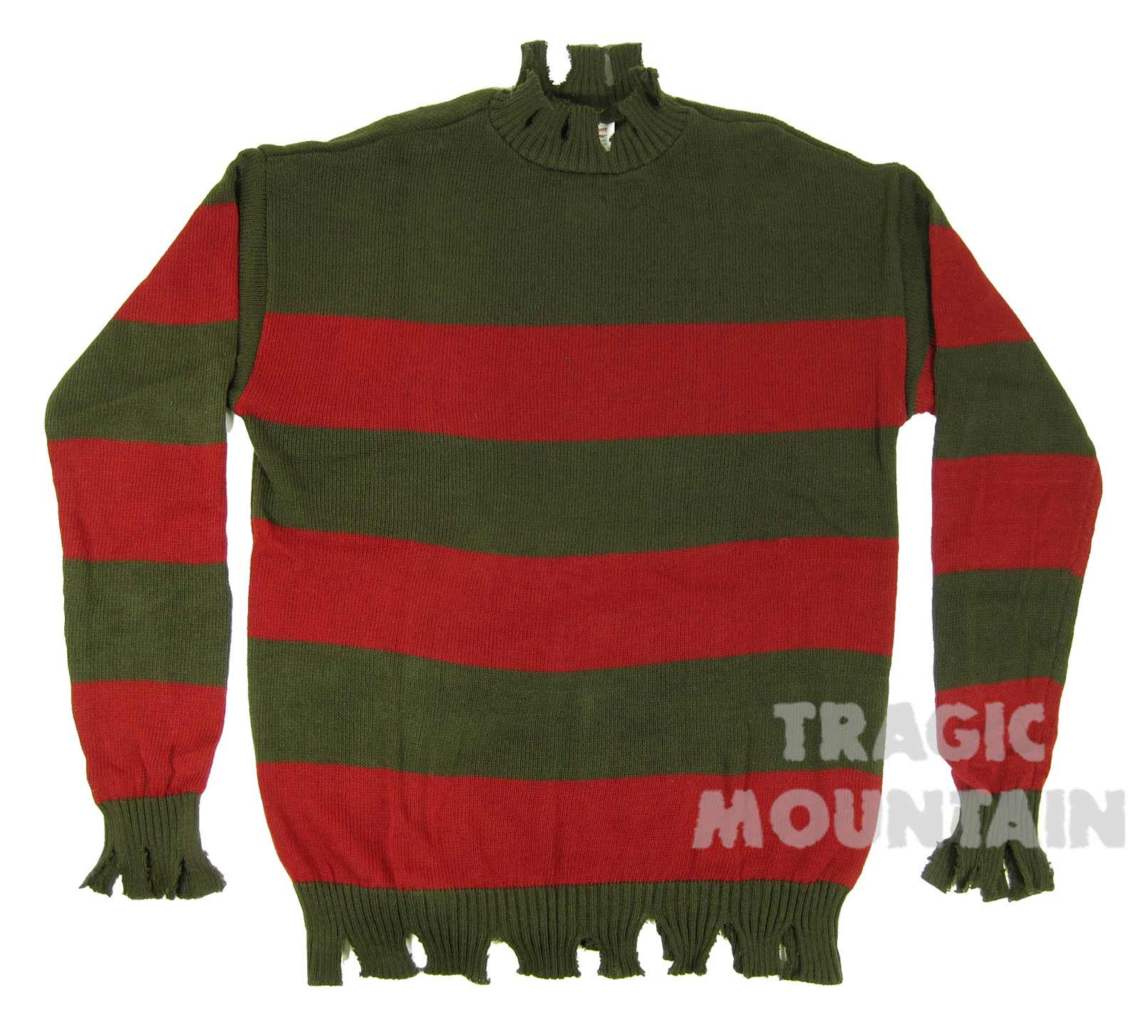 Freddy Krueger Deluxe Sweater Costume Adult Medium Large Xl Ebay
