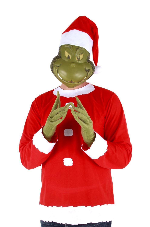 Dr seuss how the grinch stole christmas santa claus mask