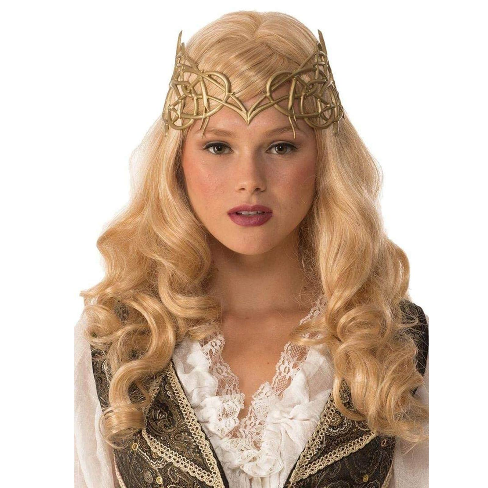 d8f222a5533 Details about Women s Queen Princess Elven Celtic Vine Halloween Costume  Silver Metallic Crown
