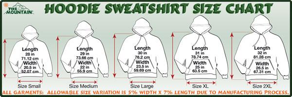 Mens Small Sweatshirt Measurements