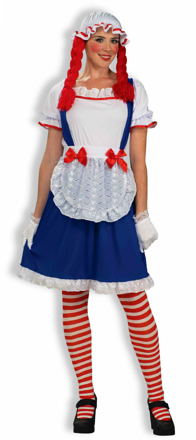 Store Categories  sc 1 st  eBay & Rag Doll Raggedy Ann Doll Dress Costume Adult Womens 721773633393 | eBay