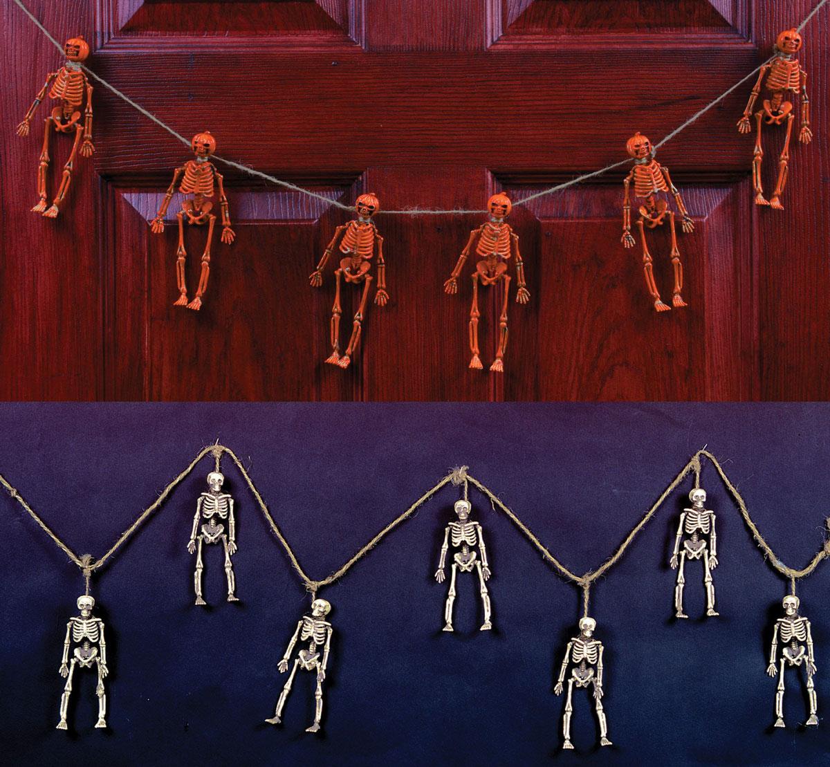 Hanging Skeleton Garland Scary Halloween Decoration Prop Decor